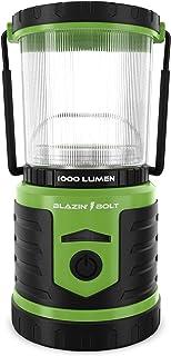 Blazin` USB Lantern Rechargeable Battery   1000 Lumen   350 Hours of Light   Giant 12,000 mAh Power Bank   6 Modes   Power Outage, Storm, Blizzard, Hurricane Survival (Green)