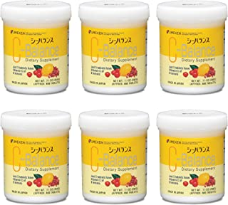 Umeken C-Balance (200g) - Highly Concentrated Vitamin C containing antioxidants, Citric Acid, Gamma-linolenic Acid. Chewable, Great for Kids. Made in Japan. (Six Pack)