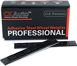 CK Auto 1/4oz, 0.25oz, Black, Adhesive Stick on Wheel Weights, EasyPeel Tape. Cars, Trucks, SUVs, Motorcycles, Low Profile, 60 oz/Box, U.S. OEM Quality, (240pcs)