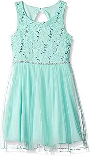 Girls' Lace Sparkle Waist Party Dress