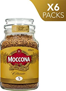 Moccona Classic Medium Roast Freeze Dried, 200 g x 6