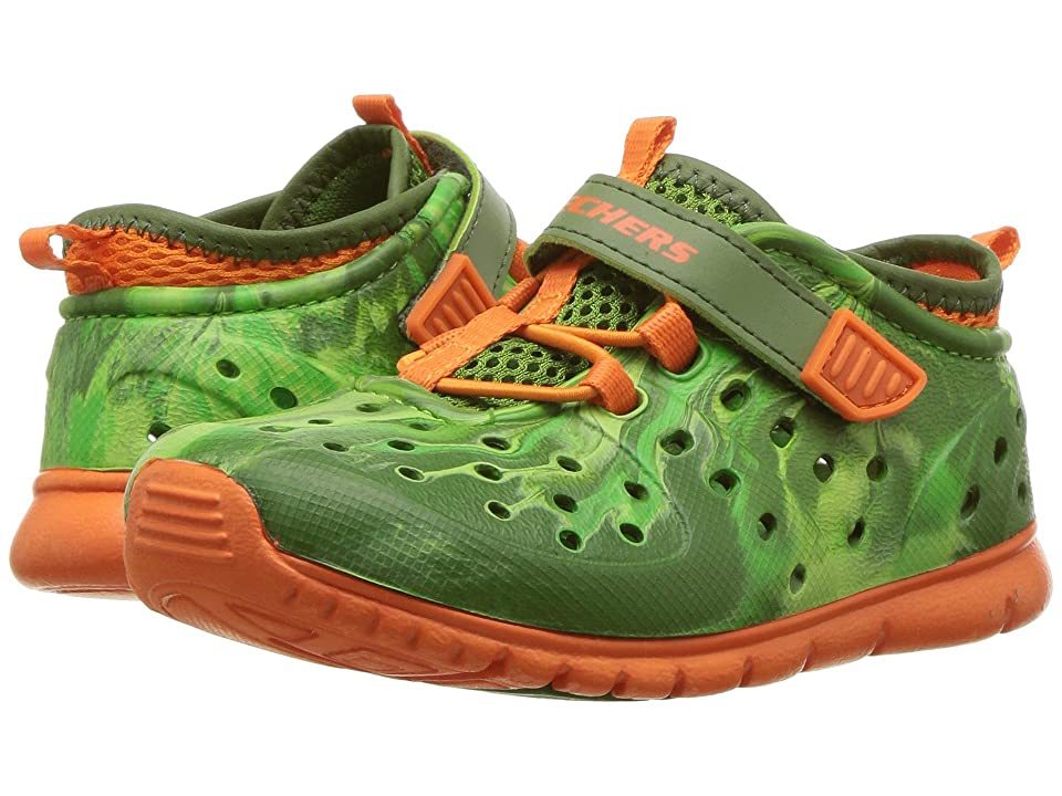 SKECHERS KIDS Hydrozooms (Toddler) (Olive/Orange) Boy