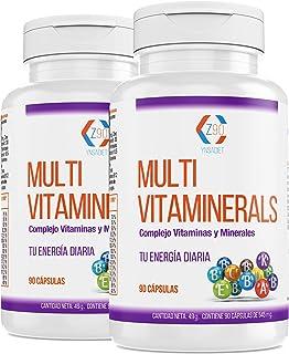 Vitaminas. minerales. complejo multimineral. cansancio y fatiga. hierro. acido fólico. b12. bienestar. 180 capsulas. (MULTIVITAMINAS PACK)