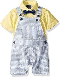 Boys' 3-Piece Shortall, Bodysuit, and Bow Tie Set