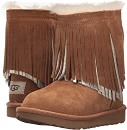 UGG Kids - Classic Short II Fringe (Toddler/Little Kid)