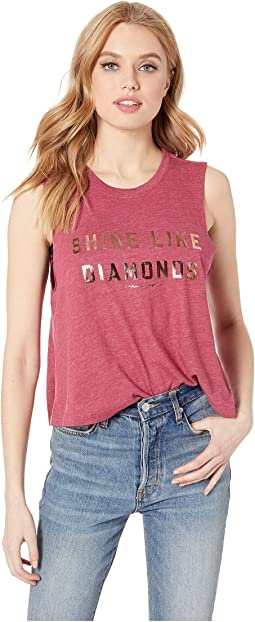 Diamonds Crop Tank Top