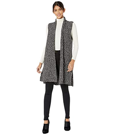 kensie Cotton Tweed Sweater Vest KSNK5963 (Black Combo) Women