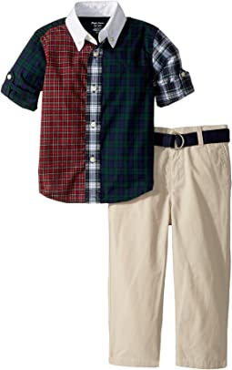 Ralph Lauren Baby - Shirt, Pants & Belt Set (Infant)