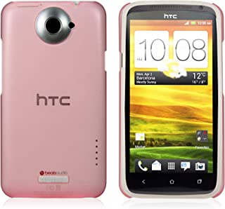 iShell Frosted Pink Snap-On Case + Screen Protector for HTC One X
