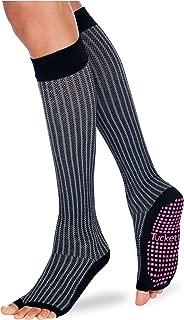 Tucketts Thigh Highs Knee High Yoga Socks, Toeless Long Socks for Pilates, Barre