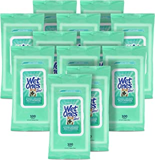 Wet Ones for Pets Hypoallergenic Multi-Purpose Dog Wipes with Vitamins A, C & E, 100 ct - 12 Pack | Fragrance-Free Hypoall...