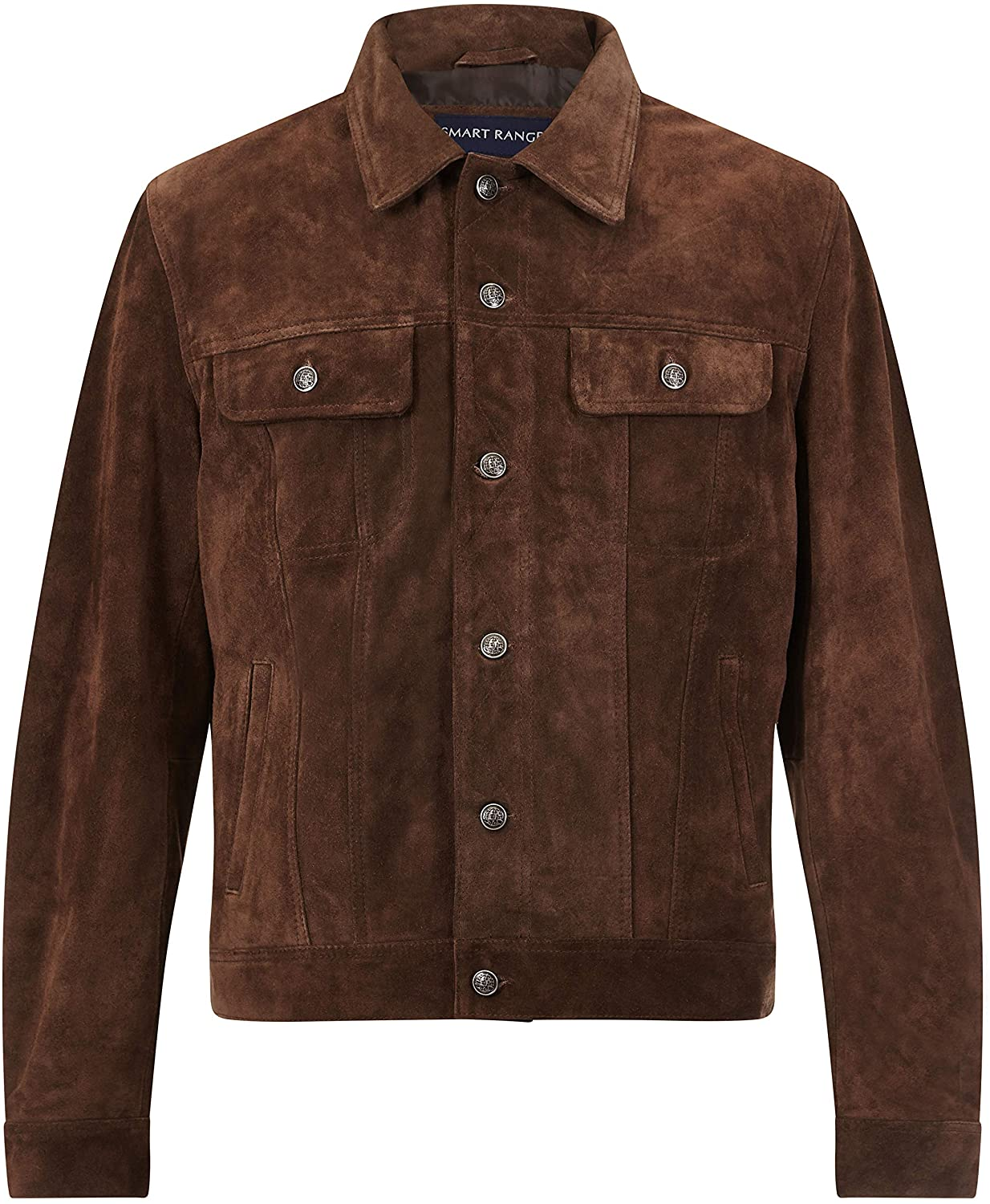 Trucker' New Men's Brown Suede Classic Real Cowhide Western Leather Jacket 1280