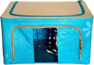 Fold-able Rectangular Shape Steel Frame Under Bed Closet Organizer (1 Pieces) (Capacity: 66 Liters, Dimension: 51 (L) X 41...