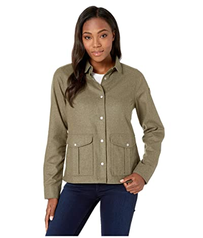 Fjallraven Greenland Re-wool Shirt Jacket (Laurel Green) Women