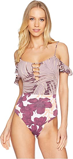 Desert Command Off the Shoulder One-Piece