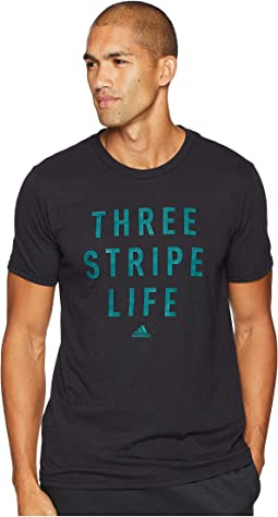 3-Stripes Life Stitch Tee
