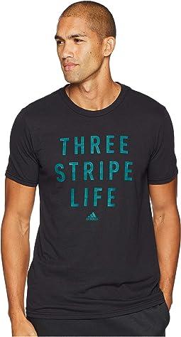 3-Stripes Life Stitch Tee