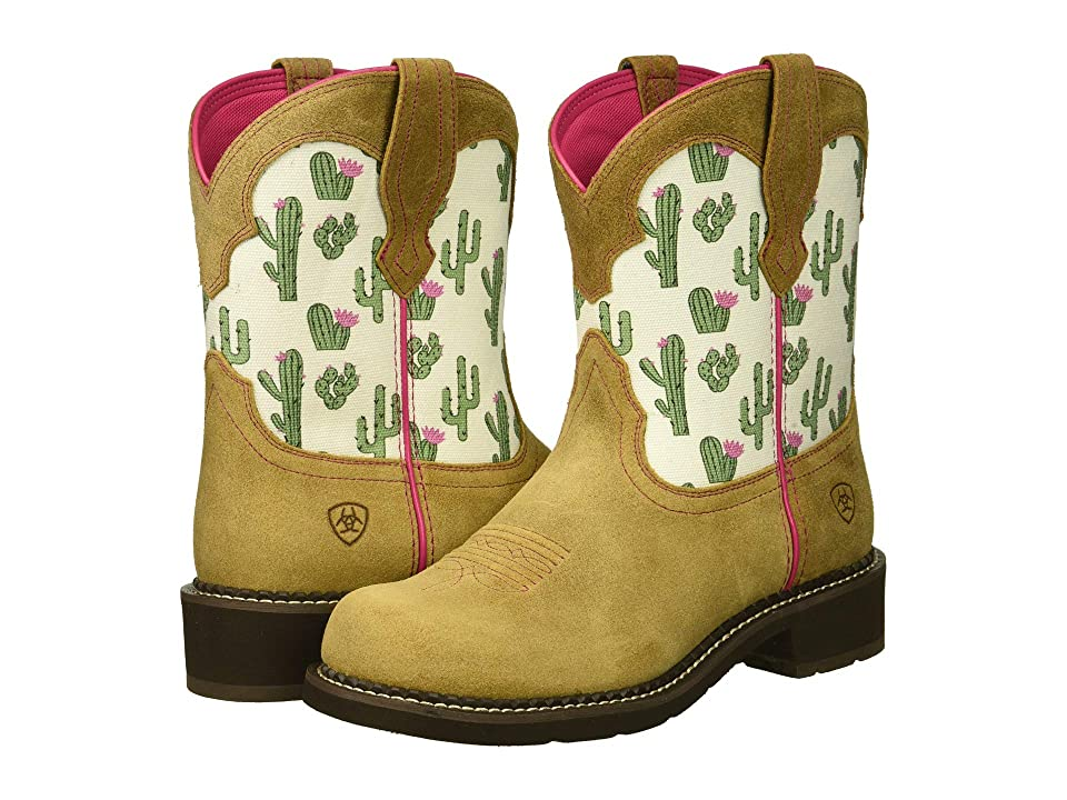 Ariat Fatbaby Heritage Twill (Sandstone/Cactus Print) Cowboy Boots