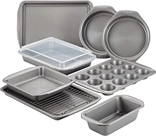 Circulon Nonstick Bakeware 10 قطعه Bakeware مجموعه ، خاکستری