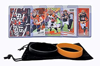 Cincinnati Bengals Cards: Andy Dalton, Joe Mixon, A.J. Green, Tyler Boyd, Nick Vigil ASSORTED Football Trading Card and Wristbands Bundle