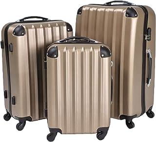 tectake Lot de 3 Valises Trolley Valise Rigide à roulettes Set de Bagages ABS Robuste Stockage Compact Nouveau