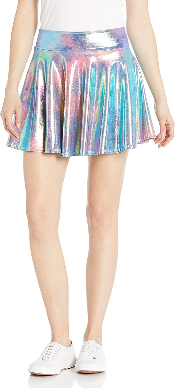 Rainbow New arrival Don't miss the campaign Tie Dye Mystique Metallic High Waisted Skater Skirt Ma -