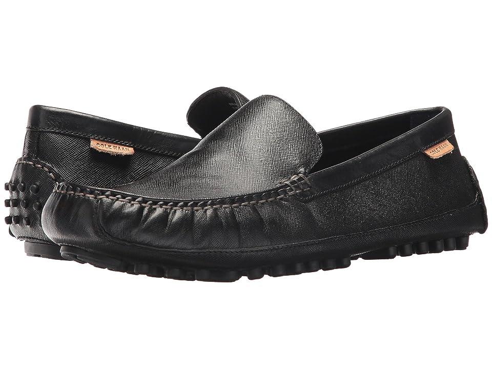 Cole Haan Coburn Venetian Driver II (Black Textured Leather) Men