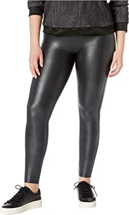 Plus Size Faux Leather Pebbled Leggings