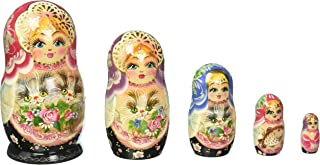 G. Debrekht 5 Inch Kitty Nested Doll, 5-Pieces