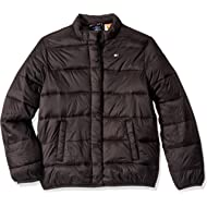 Boys' Adaptive Light Weight Down Puffer Jacket with Magnetic Buttons