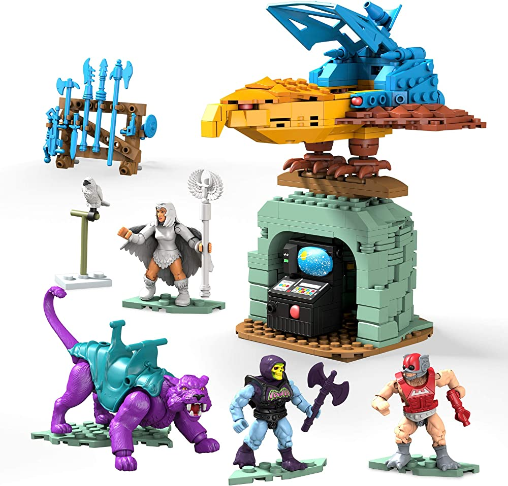 Mega construx masters of the universe set da costruire avamposto del terrore, include 3 micro action figure GPH24