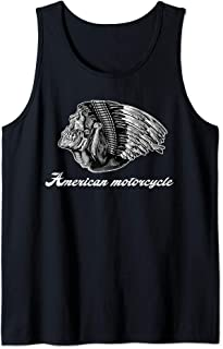 American Motorcycle Skull Native Indian Eagle Chief Vintage Tank Top