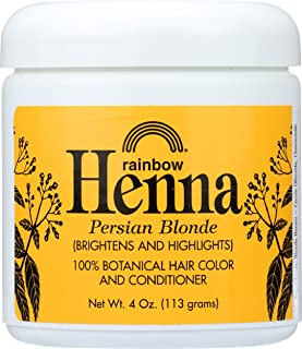 Rainbow Research Henna Botanical Hair Color and Conditioner, Persian Blonde, 4 Ounce