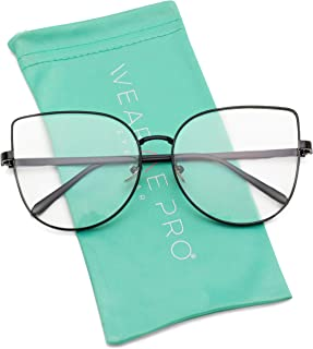 WearMe Pro - Clear Thin Frame Oversized Delicate Non-...
