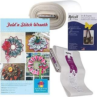 Fold 'n Stitch Wreath Kit: Pattern, Fusible Web, Foam Stabilizer (For 2 Wreaths)
