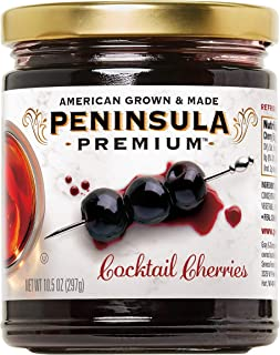 Peninsula Premium Cocktail Cherries | Award Winning | Deep Burgundy-Red | Silky Smooth, Rich Syrup | Luxe Fruit Forward, S...