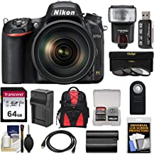 Nikon D750 Digital SLR Camera & 24-120mm f/4 VR Lens with 64GB Card + Battery & Charger + Backpack + 3 Filters + Flash + Kit