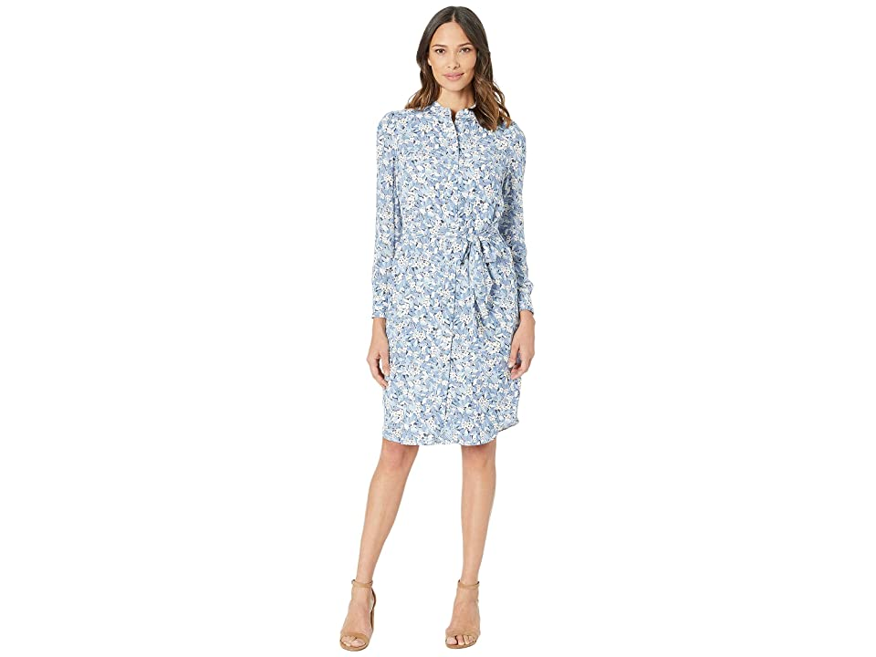 LAUREN Ralph Lauren Floral Georgette Dress (Silk White Multi) Women