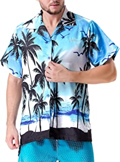 Clothin Men's Hawaiian Shorts Sleeve Shirts