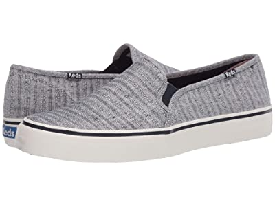 Keds Double Decker Chambray Stripe Linen (Navy) Women