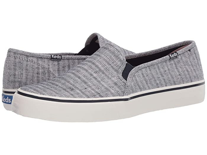 Keds  Double Decker Chambray Stripe Linen (Navy) Womens Shoes