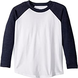 Chaser Kids - Super Soft Retro Raglan Baseball Tee (Toddler/Little Kids)