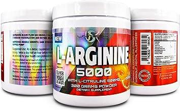 L- Arginine 5000mg – Pure L-Arginine Powder, Supplement for Performance, Vascularity, Endurance, Stamina, Muscle Growth - ...
