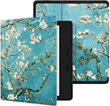 """Ayotu Colorful Case for All-New Kindle Oasis (10th Gen, 2019 Release & 9th Gen, 2017 Release) PU Leather Smart Waterproof Cover,Auto Wake/Sleep,ONLY Fits All-New 7"""" Kindle Oasis,KO The Apricot Flower"""