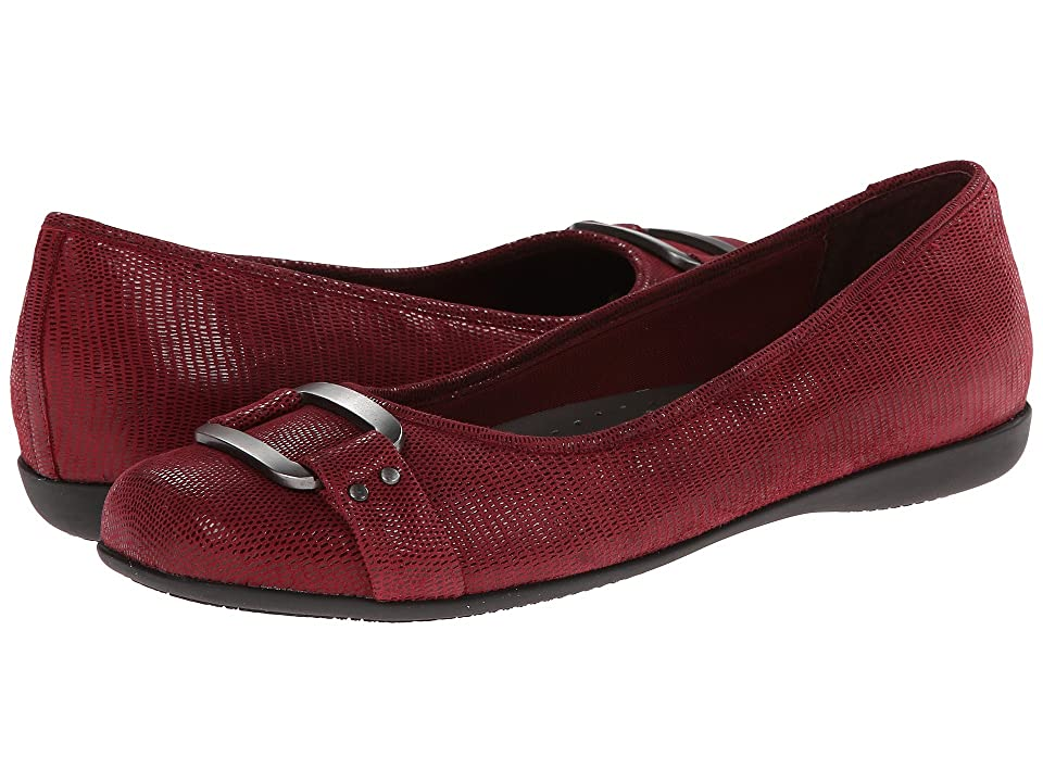 Trotters Sizzle (Dark Red Patent Suede Lizard Leather) Women
