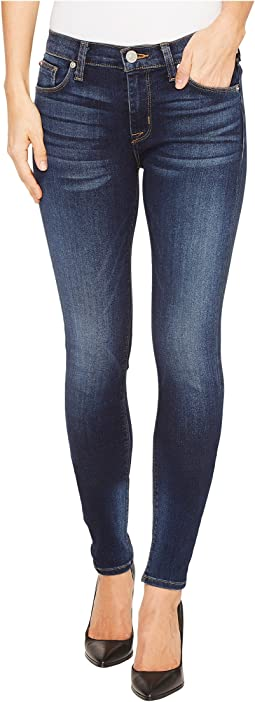 Hudson Nico Mid-Rise Super Skinny Five-Pocket Jeans in Blue Gold