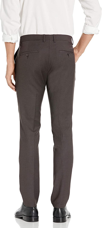 Kenneth Cole REACTION Pantalon skinny stretch pour homme Motif pied-de-poule Gris Foncé