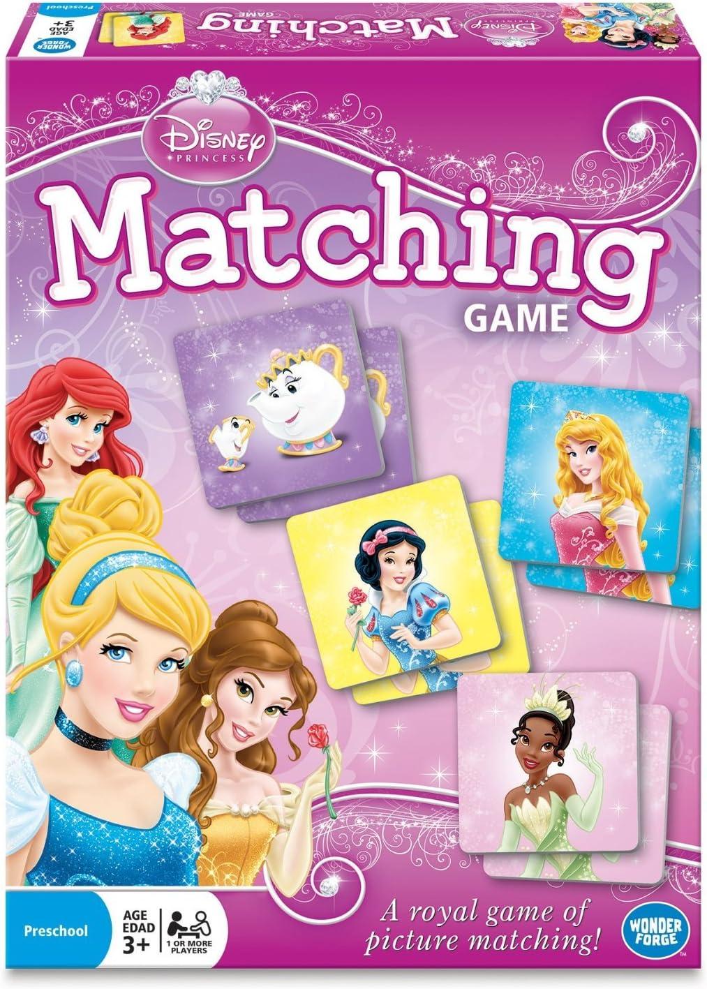 Wonder Forge Disney Princess Matching Game For Girls & Boys Original Version