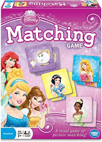 Wonder Forge Disney Princess Matching Game For Girls & Boys Age 3 To 5 - A Fun & Fast Princess Memory Game,Original V...