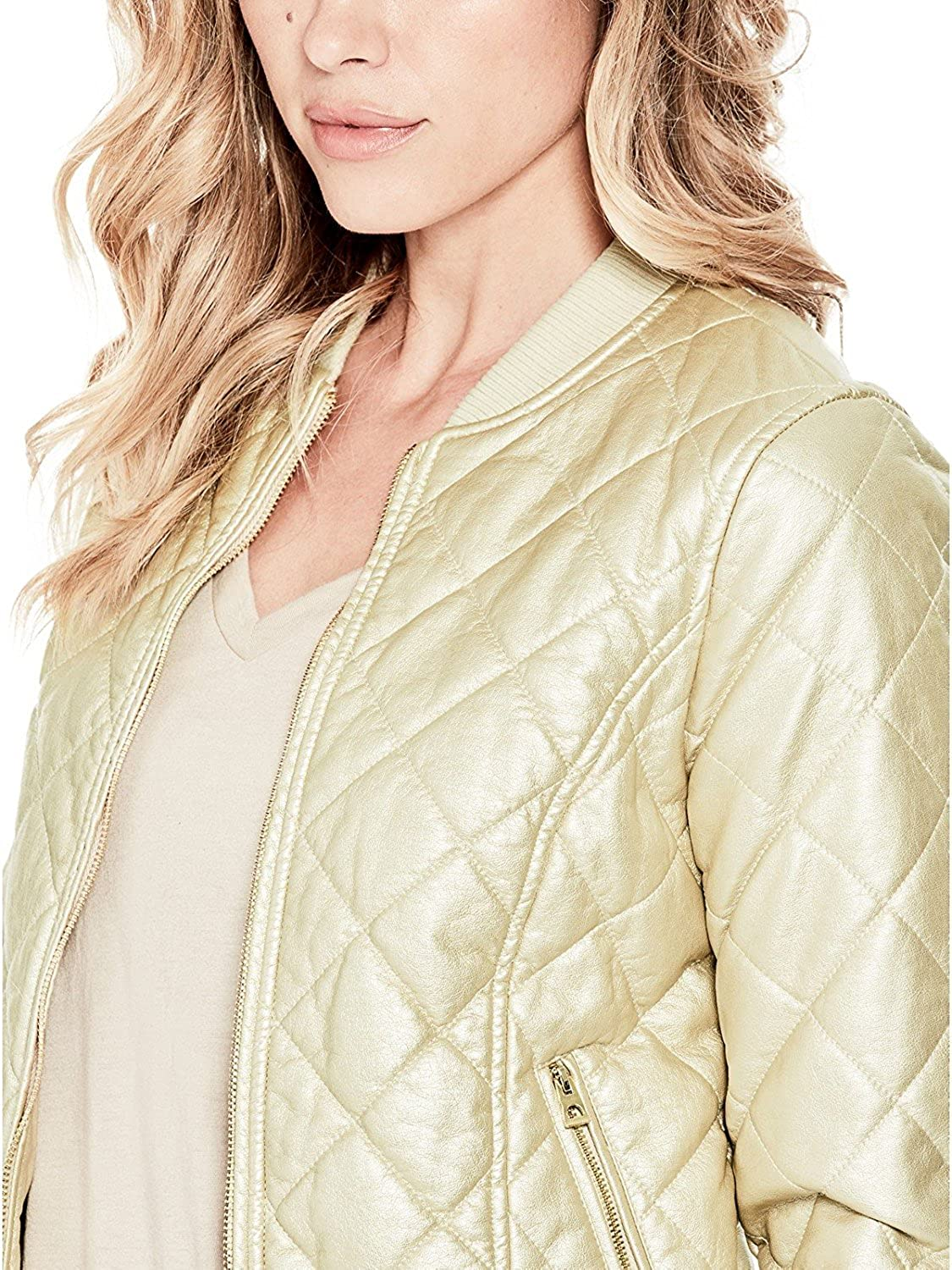 Babubala Stylish;Pretty Women's Geena FauxLeather Bomber Jacket